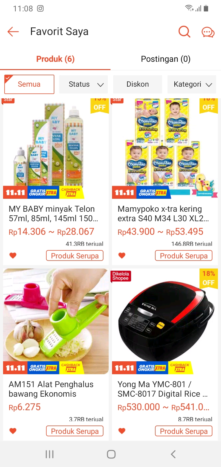 Wishlist di Shopee