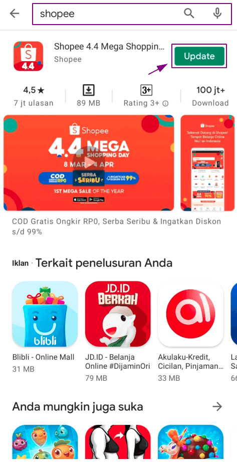 Update Shopee