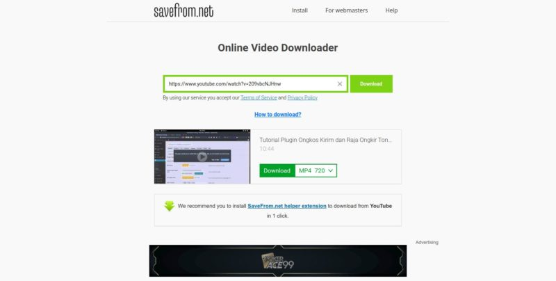 Cara Download Video Youtube - SaveFrom