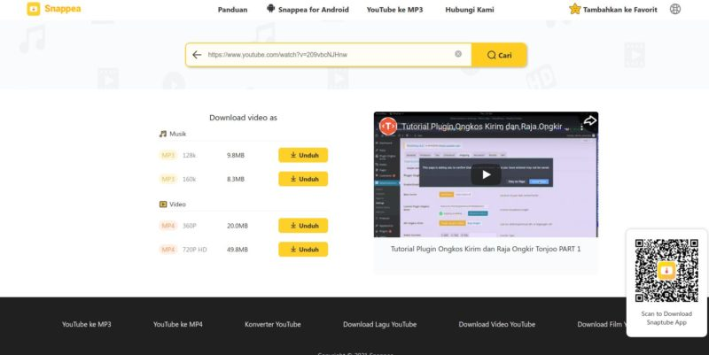 Cara Download Video Youtube - Snappea